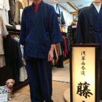 久留米作務衣でご来店いただきました。
